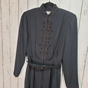 Vintage Liz Claiborne Black Belted Gold size 6
